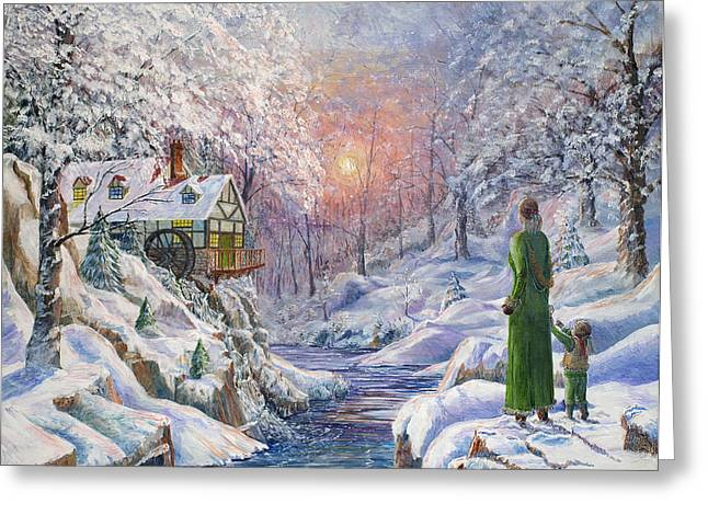 Christmas Greeting Greeting Cards - Winter Wonderland Greeting Card by Anthony Lyon
