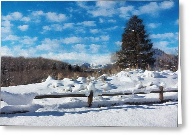 Snowstorm Greeting Cards - Winter Wonderland - Aspen Greeting Card by Kim Hojnacki