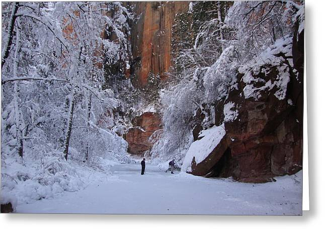 West Fork Greeting Cards - Winter Wonderland  Greeting Card by Eun Ree