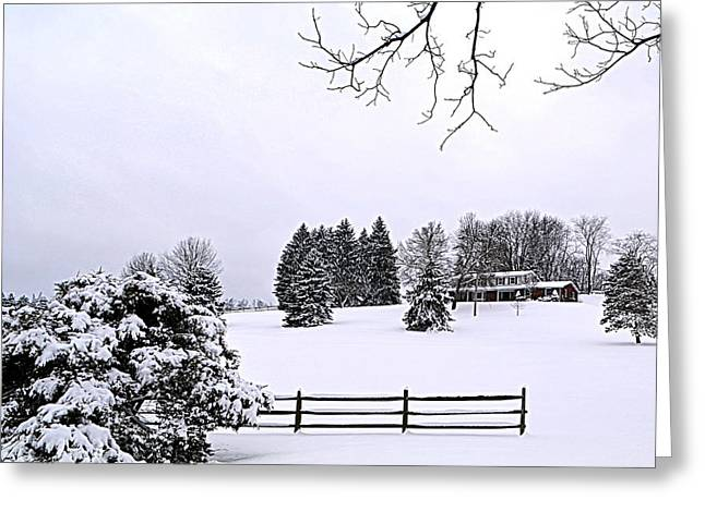 White As Snow Greeting Cards - Winter Wonderland Greeting Card by Jeanne Geidel-Neal