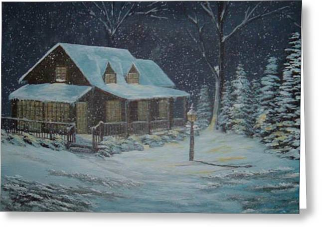 Jimmy Johnson Greeting Cards - Winter Wonderland Greeting Card by Jimmy Johnson