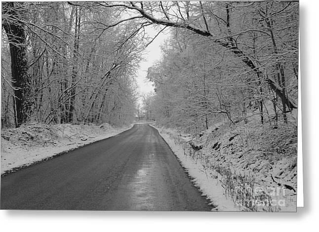 Winter Road Scenes Digital Greeting Cards - Winter Wonderland Greeting Card by Laura DeCamp