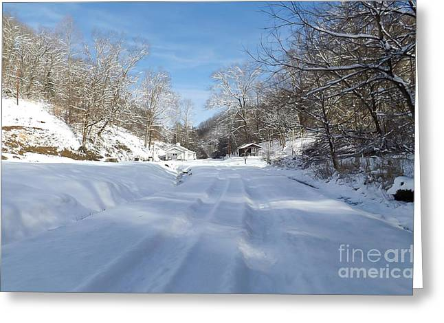 Snowy Brook Greeting Cards - Winter Wonderland Greeting Card by Lena Auxier