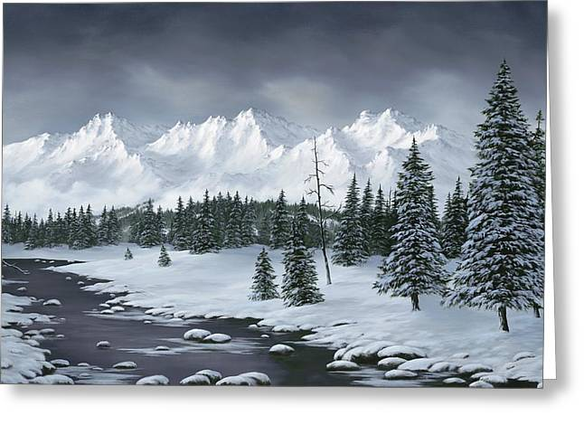 Snowscape Paintings Greeting Cards - Winter Wonderland Greeting Card by Rick Bainbridge