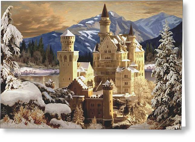 Snow Drifts Paintings Greeting Cards - Winter Wonderland Greeting Card by Ronald Chambers