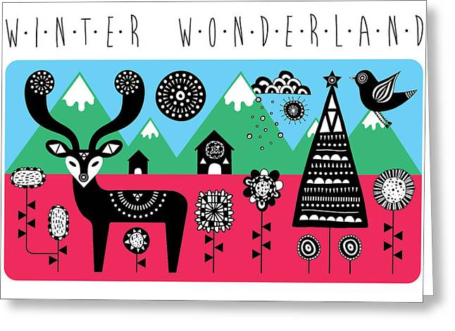 Abstract Geometric Greeting Cards - Winter Wonderland Greeting Card by Susan Claire
