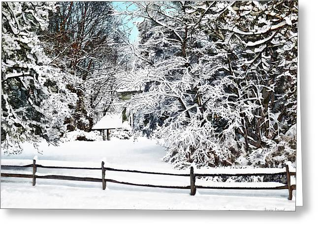 Winter Wonderland Greeting Card by Susan Savad