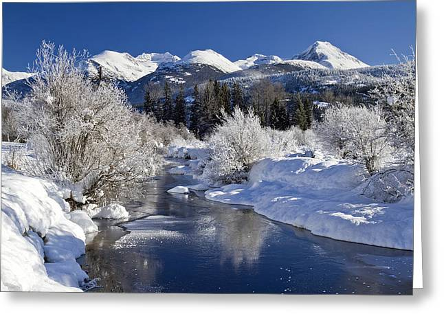 Riviere Greeting Cards - Winter Wonderland Whistler B.C Greeting Card by Pierre Leclerc Photography
