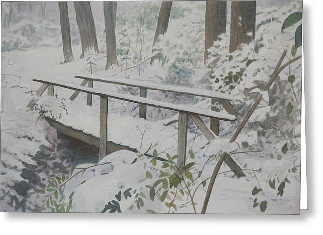 Holiday Greeting Cards - Winter Woods Greeting Card by Christopher Reid