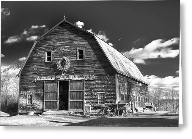 Maine Farmhouse Greeting Cards - Winterberry Farm Greeting Card by Guy Whiteley