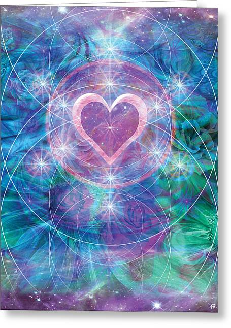 Alixandra Mullins Greeting Cards - Winterheart Greeting Card by Alixandra Mullins