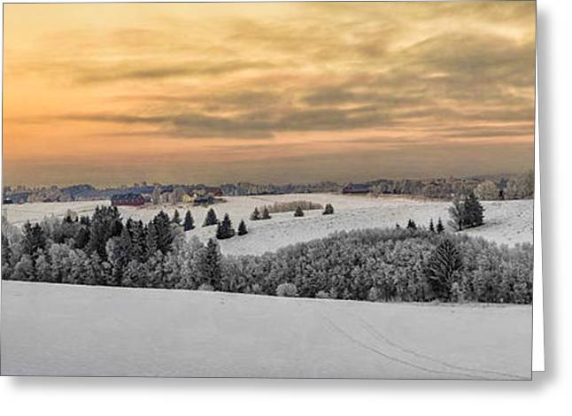 Snowy Day Greeting Cards - Winterland Greeting Card by Erik Brede