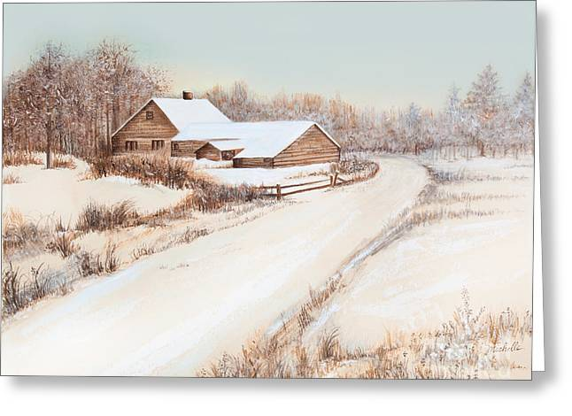 Snow-covered Landscape Greeting Cards - Winterness Greeting Card by Michelle Wiarda