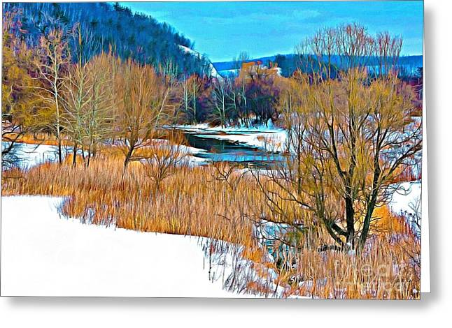Winter's Beauty  Greeting Card by Helene Guertin