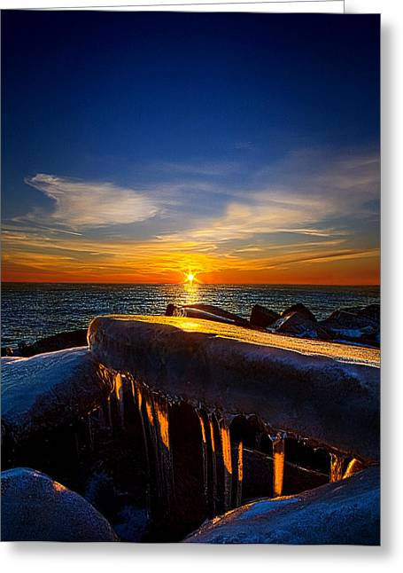 Geographic Greeting Cards - Winters Bite Greeting Card by Phil Koch