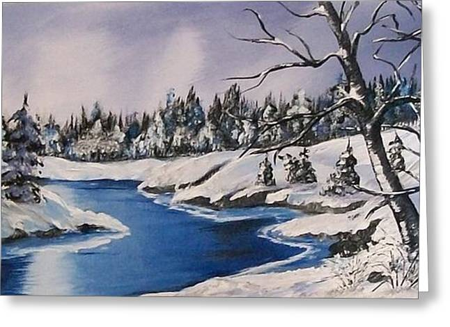 Snow Tree Prints Greeting Cards - Winters Blanket Greeting Card by Sharon Duguay