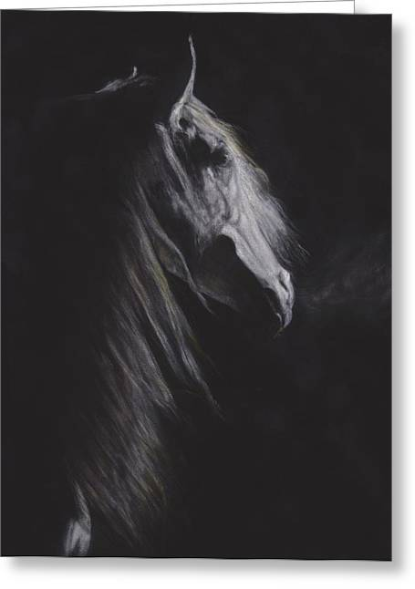 Horse Greeting Cards - Winters Breath Greeting Card by Loreen Pantaleone