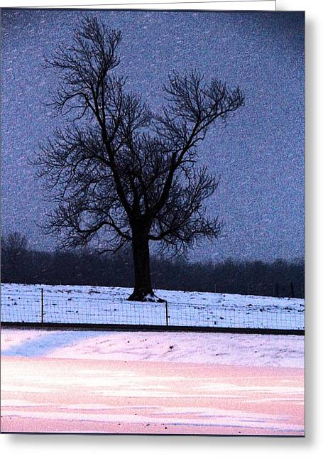 Road Travel Greeting Cards - Winters Day Greeting Card by Dan Sproul