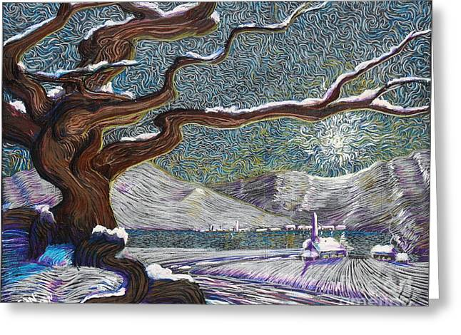 Winter's Day Greeting Card by Stefan Duncan