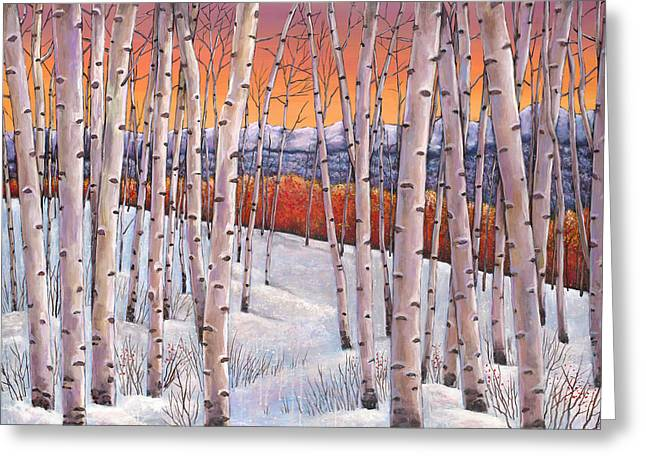 Birch Tree Greeting Cards - Winters Dream Greeting Card by Johnathan Harris