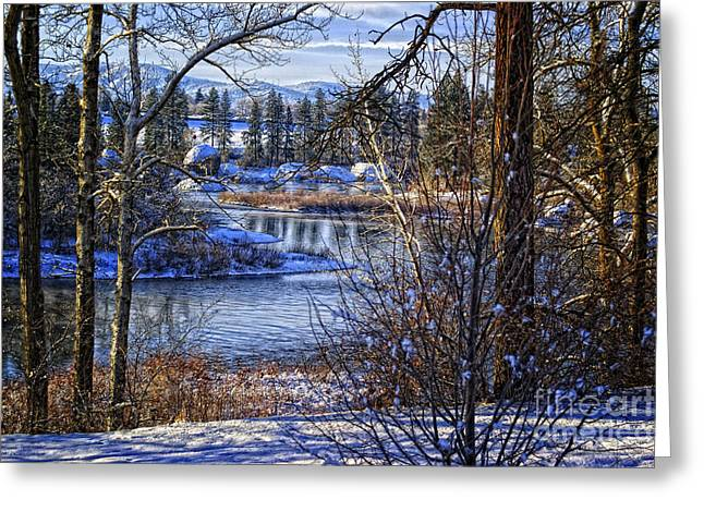 Spokane Greeting Cards - Winters Edge Greeting Card by Reflective Moment Photography And Digital Art Images