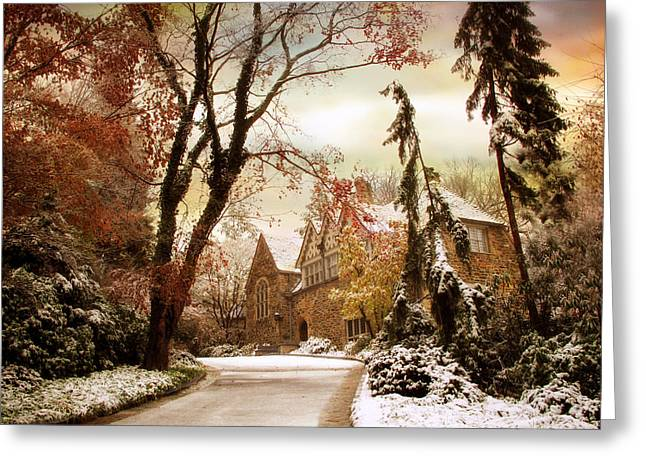 Home Greeting Cards - Winters Entrance Greeting Card by Jessica Jenney