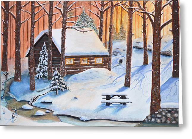 Ski Art Greeting Cards - Winters escape Greeting Card by Ken Figurski