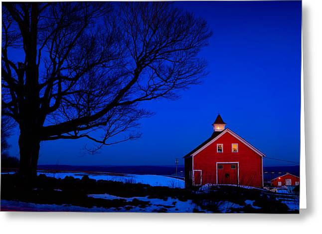 Connecticut Winter Greeting Cards - Winters Eve Greeting Card by Michael Petrizzo