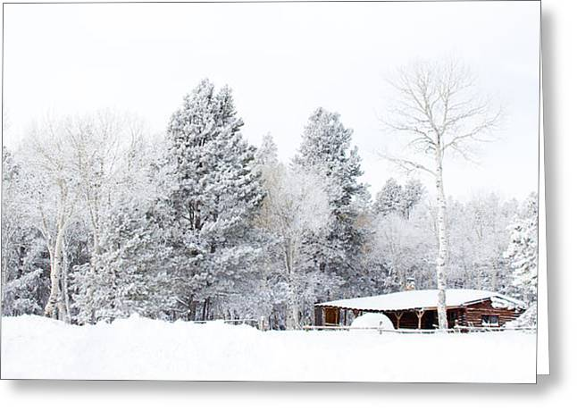Wintry Greeting Cards - Winters Homestead - Casper Mountain - Casper Wyoming Greeting Card by Diane Mintle