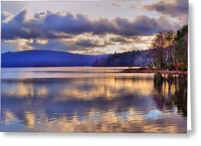 Dave Woodbridge Greeting Cards - Winters Lake Greeting Card by Dave Woodbridge