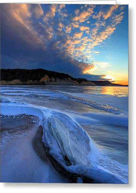 Snow Drifts Greeting Cards - Winters Last Gasp Greeting Card by Chris  Allington