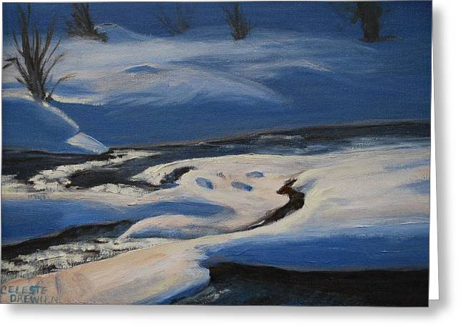 West Fork Paintings Greeting Cards - Winters Lifeless World Greeting Card by Celeste Drewien