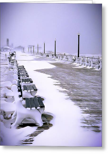 Winter Storm Greeting Cards - Winters Silence Greeting Card by William Walker