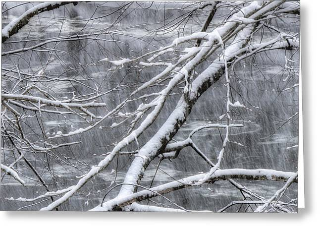 New England Snow Scene Greeting Cards - Winters Song Greeting Card by Joann Vitali