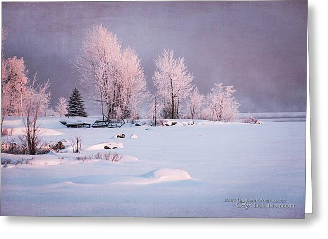 Kim Klassen Texture Greeting Cards - Winters Splendor #3 - Pastels Greeting Card by Dustin Abbott