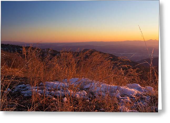Snowy Evening Greeting Cards - Winters Splendor Greeting Card by Heidi Smith