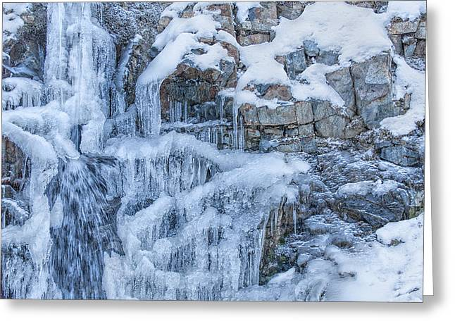Water Over Rock Greeting Cards - Winters Taking Over Greeting Card by Paul W Sharpe Aka Wizard of Wonders