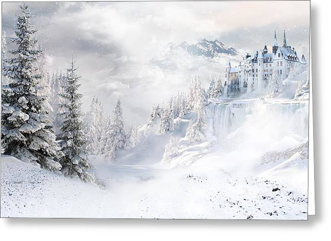 Nature Scene Greeting Cards - Winters Tale Greeting Card by Shanina Conway