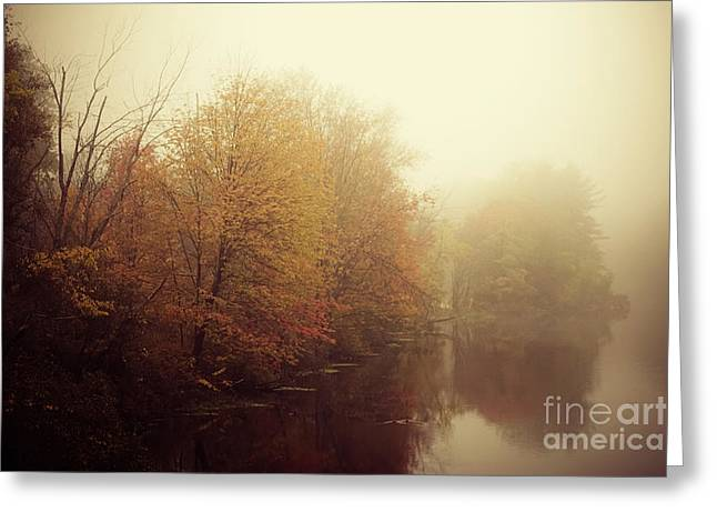 """autumn Foliage New England"" Greeting Cards - Winters Warm-up Act Greeting Card by Katya Horner"