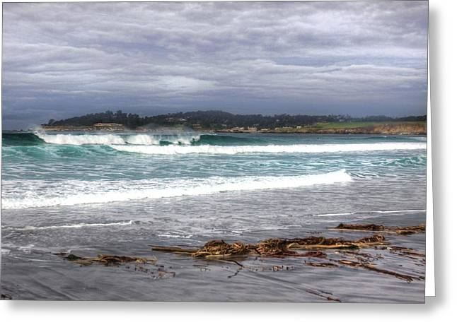 California Beach Art Greeting Cards - Wintertide  Greeting Card by Kandy Hurley