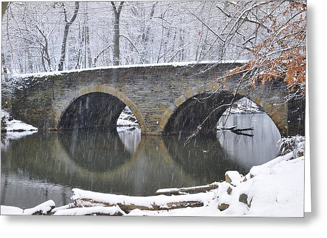 Phila Digital Greeting Cards - Wintertime at Bells Mill Road Greeting Card by Bill Cannon