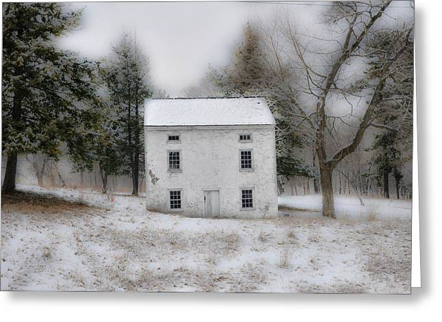 Stone House Digital Greeting Cards - Wintertime in Valley Forge Greeting Card by Bill Cannon