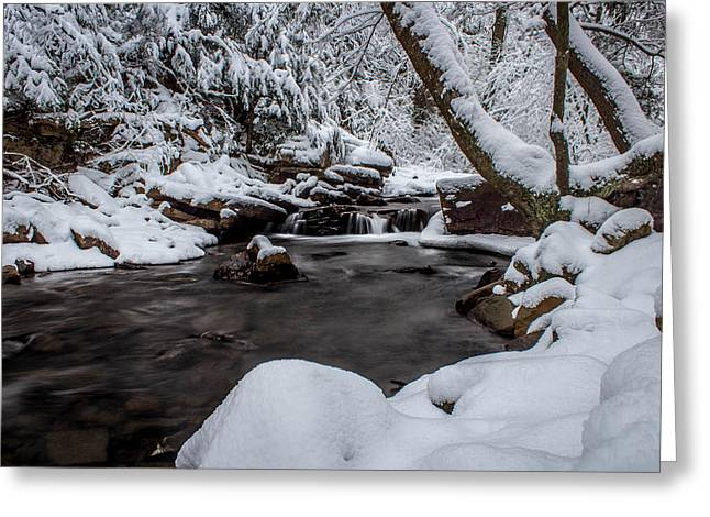 Jahred Allen Photography Greeting Cards - Wintery Falls Greeting Card by Jahred Allen