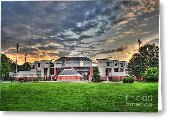 Winthrop Greeting Cards - Winthrop Eagles Ballpark Greeting Card by Jacque Weir