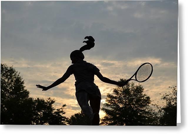 Winthrop Greeting Cards - Winthrop Tennis Greeting Card by Sam Gustin