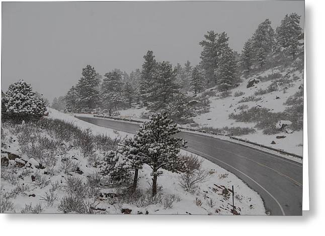 Fort Collins Greeting Cards - Wintry Climb Greeting Card by Harry Strharsky