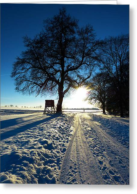 Farm Stand Greeting Cards - Wintry Countryside Greeting Card by Mountain Dreams