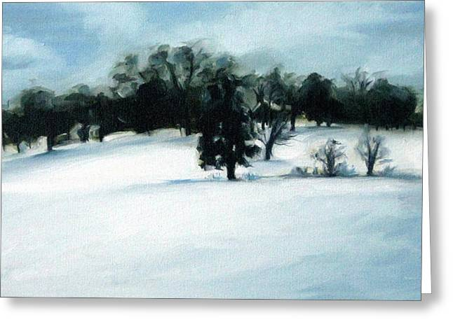 Nashville Tennessee Paintings Greeting Cards - Wintry Hill Greeting Card by Erin Rickelton