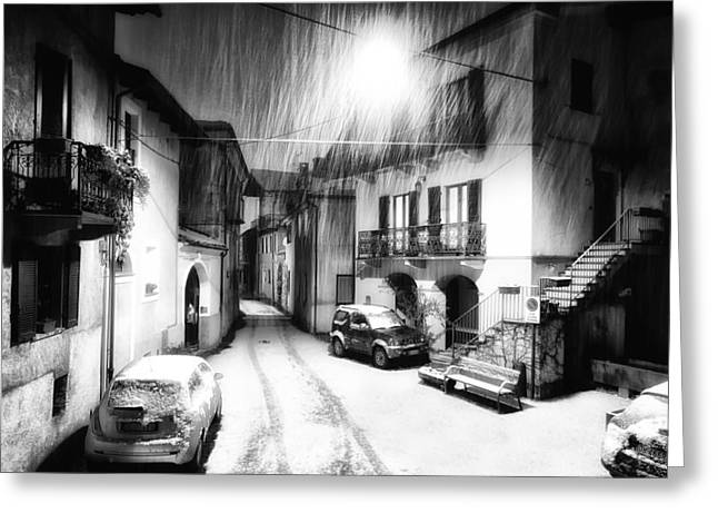 Technical Photographs Greeting Cards - Wintry Night Greeting Card by Mountain Dreams