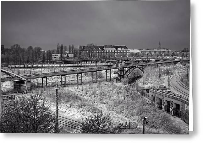 Wintry Ride On Berlin's S-bahn Greeting Card by Mountain Dreams